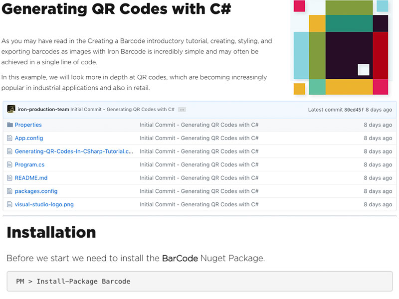 C# QR Code Generator full screenshot