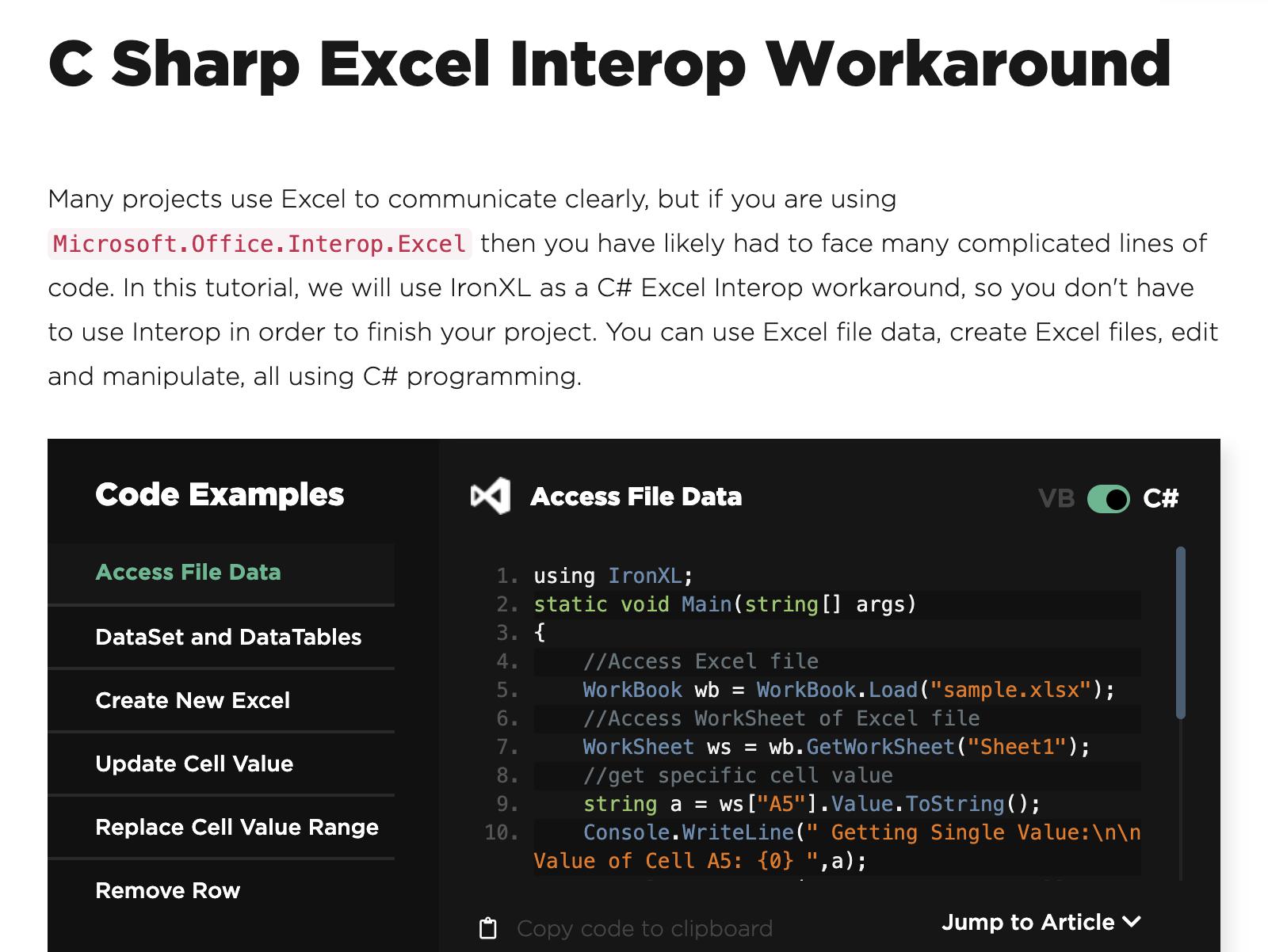 C# excel Interop