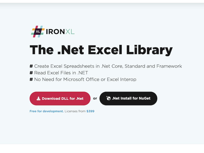Excel .Net Library