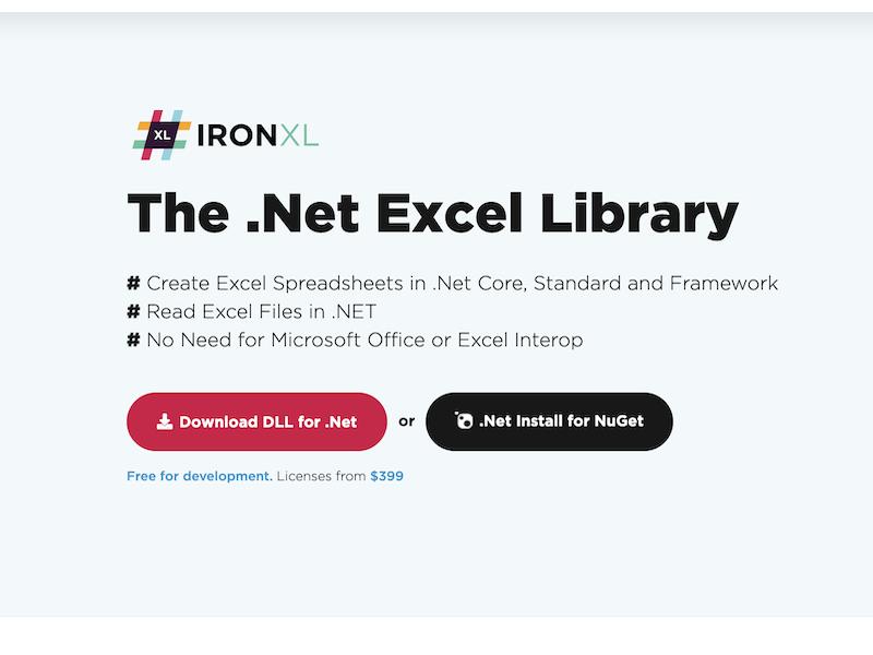Excel .Net Library full screenshot