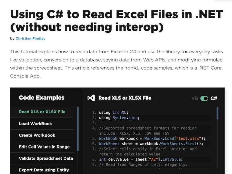 C# Read Excel File