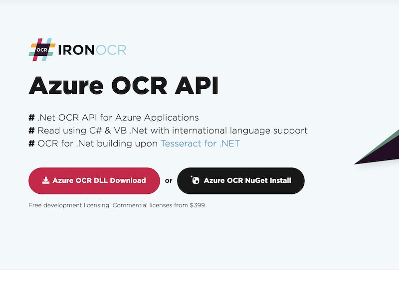 Azure OCR Product full screenshot