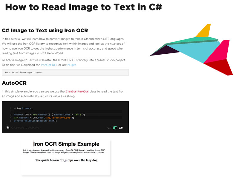 How to Read Text from an Image in C# .NET APP