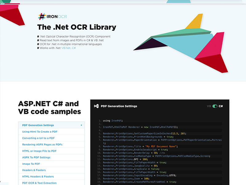 OCR in .Net full screenshot