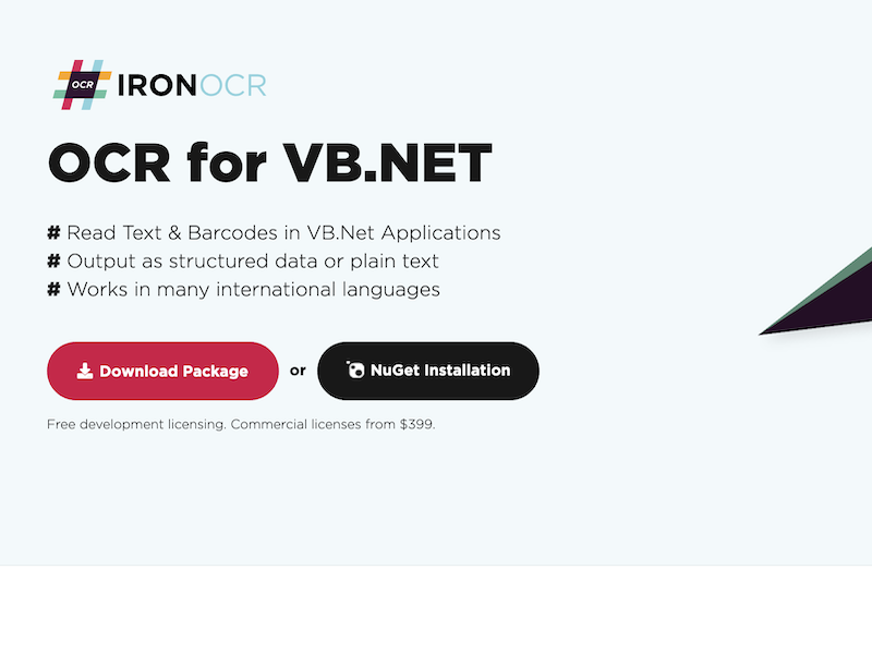 OCR for VB.NET Library