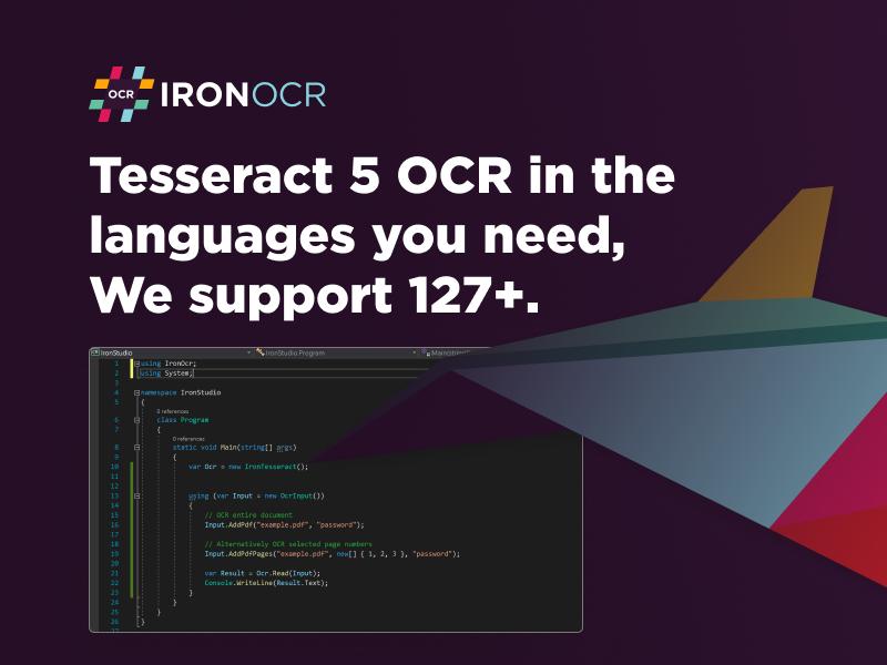 Tesseract OCR in C#